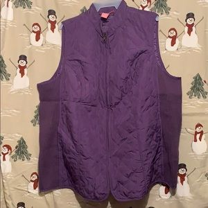 Purple quilted vest